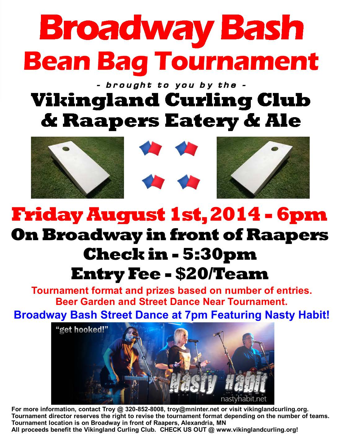 2014 VCC Broadway Bash Bean Bag Tourney Aug 1st